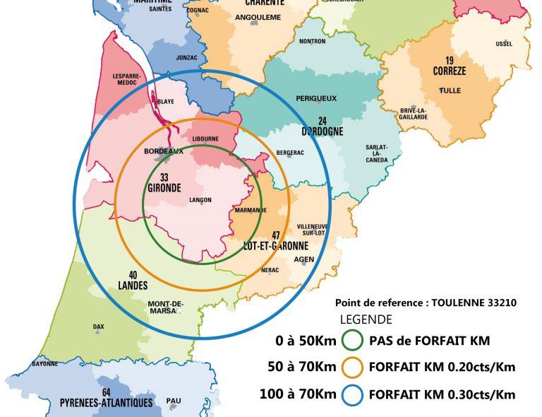 carte déplacement forfaitaire Michel Boucau Climatisation
