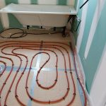 pose chauffage au sol salle de bain michel boucau climatisation